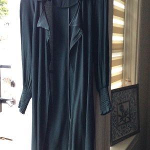 Rich Dark Green Overcoat - ZARA